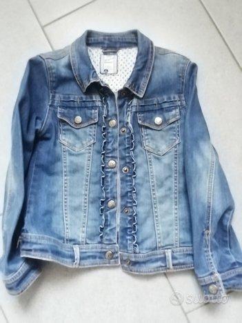 Giubbino jeans + giacchina cotone taglia 7-8 anni