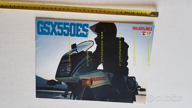 Suzuki GSX 550 ES 1985 depliant ITALIANO moto