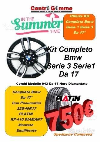 Cerchi In Lega e Gomme Bmw S3 S1 17 750 Spediti