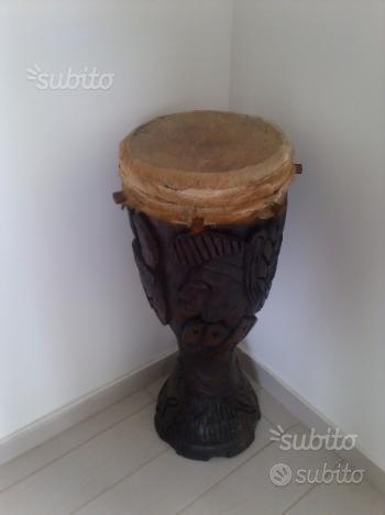 Tamburo percussione africano artigianale