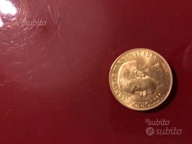 Moneta 50 lire oro Vittorio Emanuele II Comm