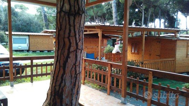 Cottage con roulotte camping Lido dei Pini