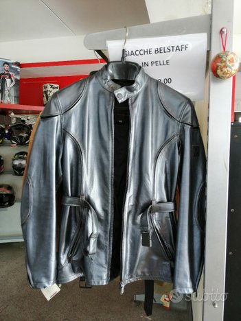 Giacca Belstaff Orion pelle silver tg 40
