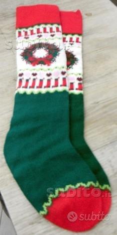 Coppia di calze natalizie