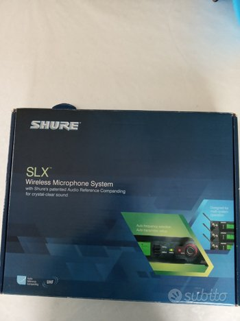 Shure slx4e=j3 wireless microphone system
