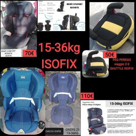 Seggiolino auto isofix gruppo 2/3 o 15-36kg