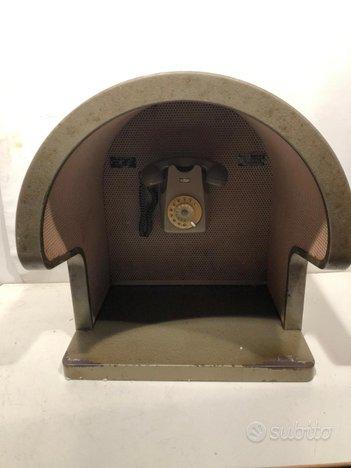 Cabina cupola telefonica con telefono Sip vintage