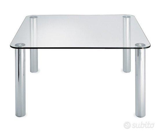 Tavolo in cristallo e acciaio,Marco ZANUSO