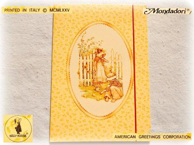 HOLLY HOBBIE Vintage MAXI cartellina elastico 1975