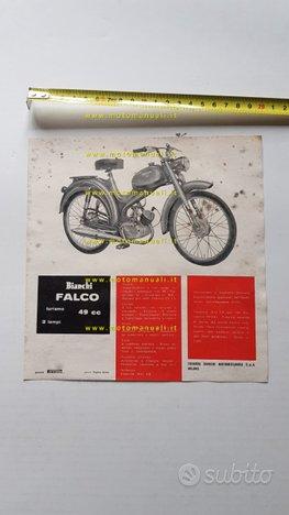 Bianchi 49 Falco Turismo 1963 depliant moto epoca