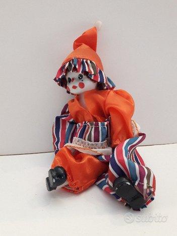 Clown in ceramica dipinto a mano