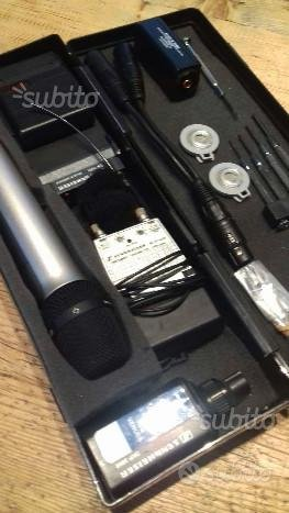 Set completo microfoni sennheiser radio broadcast