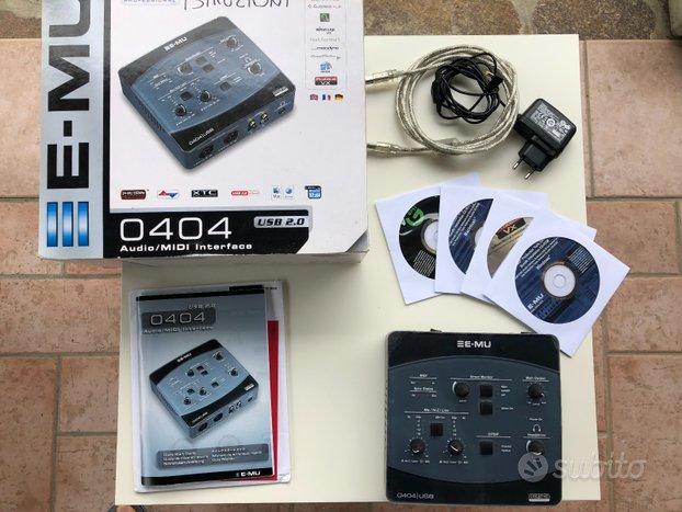 Interfaccia Audio/MIDI E-MU 0404