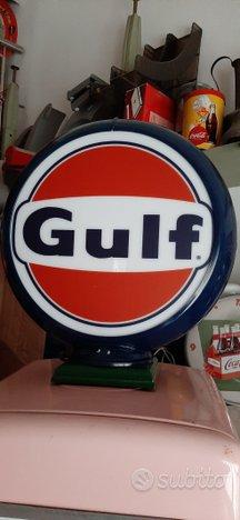 Globo Gulf distributore pompa benzina anni 50