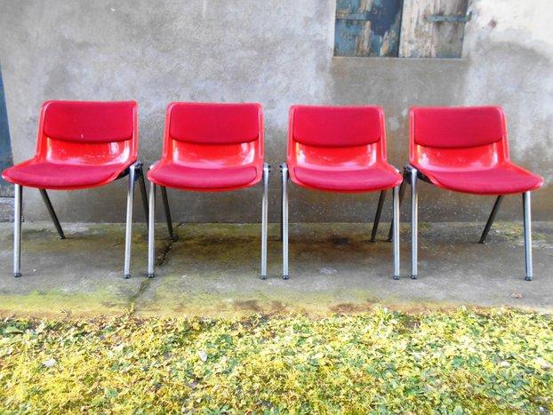 SEDIE MODUS TECNO vintage design anni 70 ufficio ...