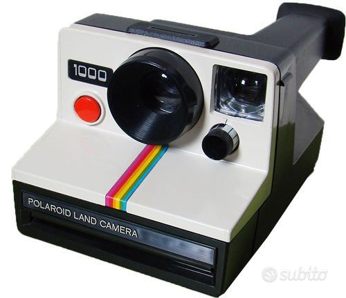 Polaroid 1000, one step, close up, 2000,the button
