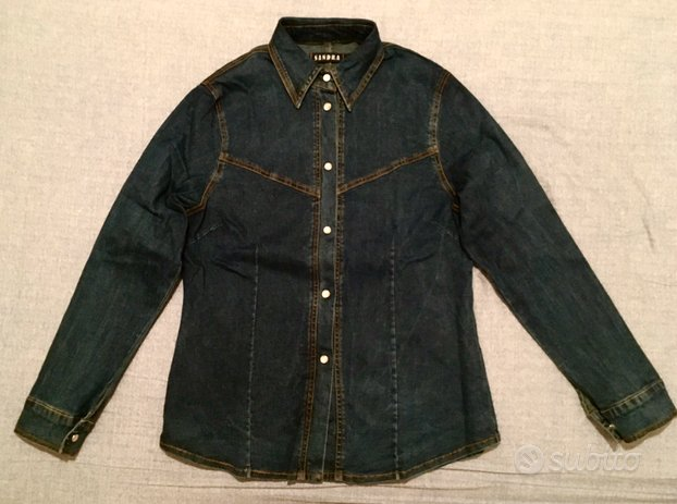 Camicia Jeans Western Country stretch NUOVA