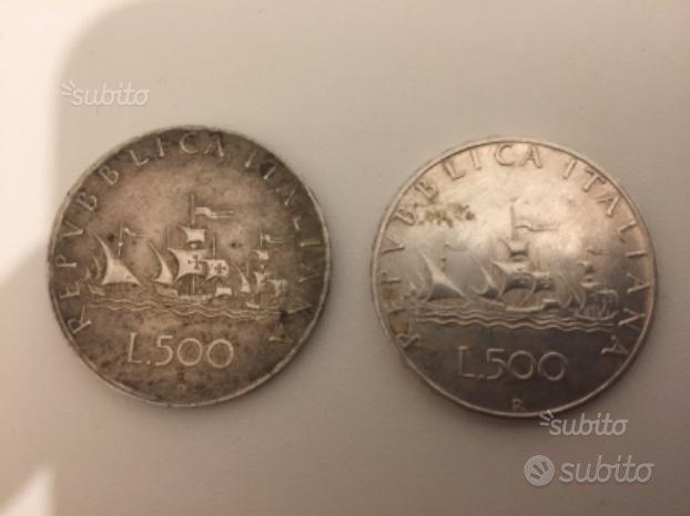 Monete 500 Lire Argento Caravelle 1960 - 1966