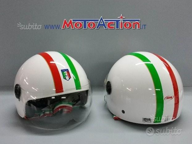 Casco HDM IT 552 FIGC italia tricolore jet moto