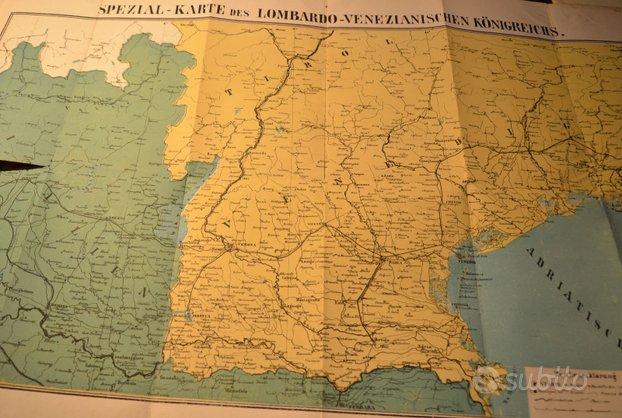 Cartina del regno lombardo veneziano, rara