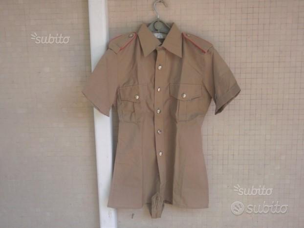 Camicia kaki estiva CC del 1980 tg. 14 RN nuova