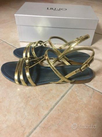 Sandali Liu Jo flat colore oro taglia 40