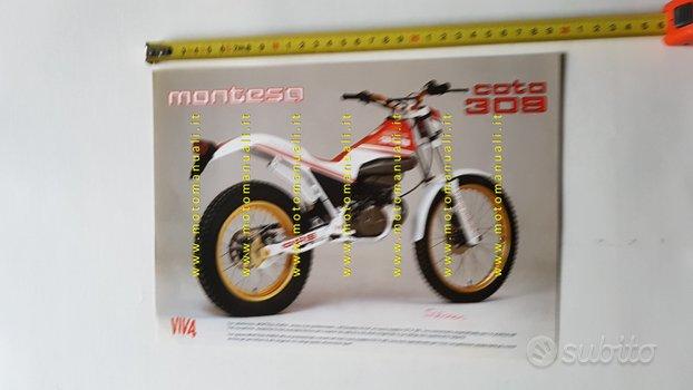 Montesa Cota 309 Trial 1989 depliant moto italiano