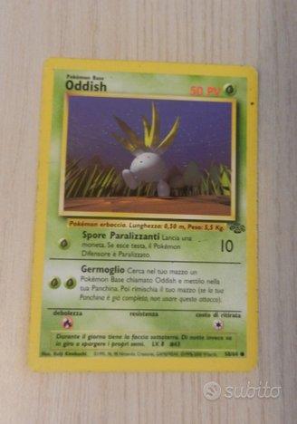 Carta Pokémon ODDISH 58/64 jungle 1995/96/98