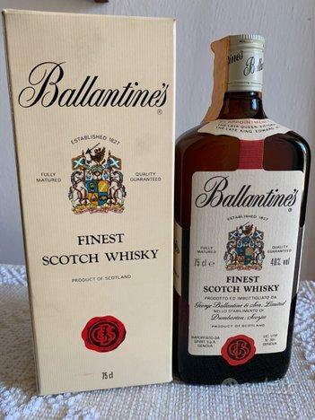Ballantines Whisky, scatola, collezione, vintage