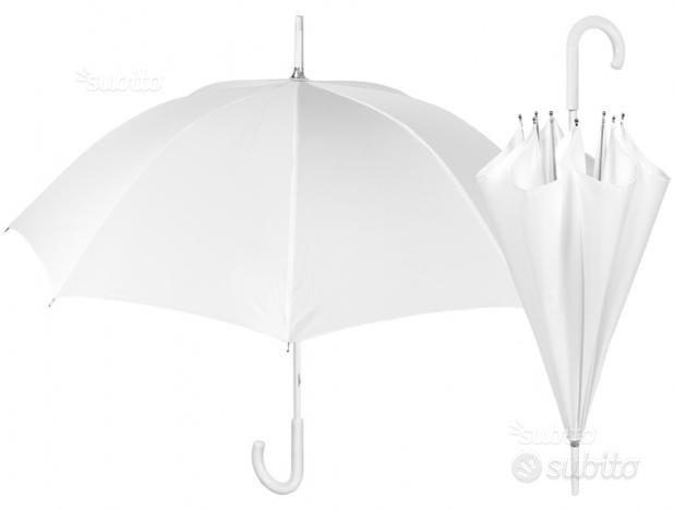 Ombrello Bianco da Sposa e Sposo 54 cm Perletti