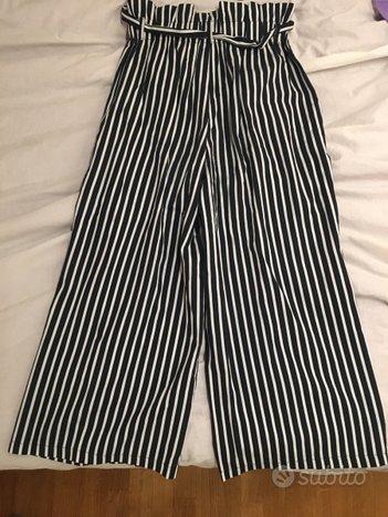 Pantaloni a palazzo eleganti a righe
