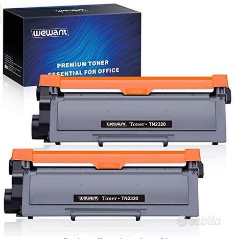 Due Toner compatibile TN 2320 per Brother