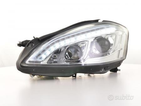 fari Xenon Daylight LED DRL look Mercedes-Benz S
