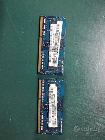 Memorie RAM per notebook Ddr3 da 2gb 4 6 8
