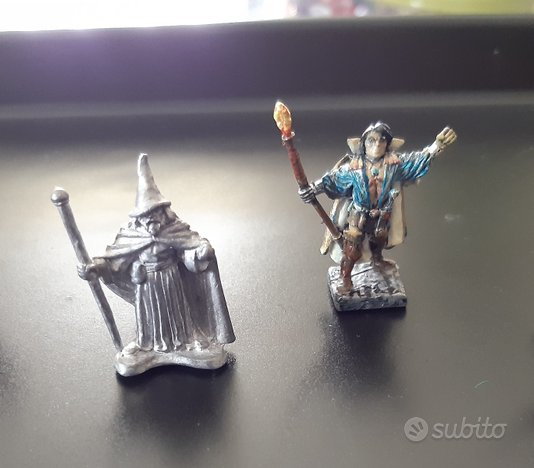 Miniature in piombo di maghi