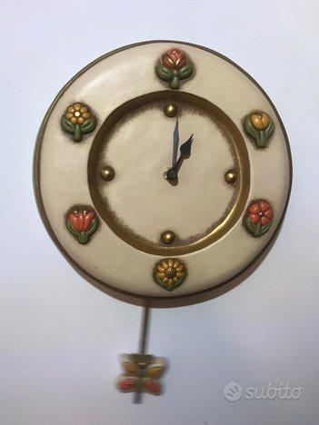 Orologio Thun Pendolo Fiori Vintage Design
