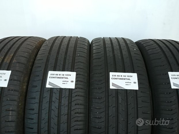 Gomme estive 235 60 r 18 continental usate