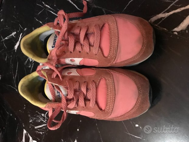 Sneakers Saucony rosa e gialle, num 37,5