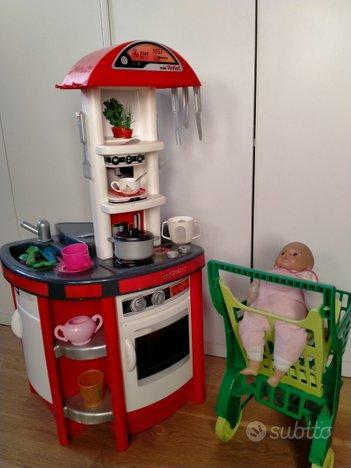 Cucina bimbi con cassa super carrello e bambola
