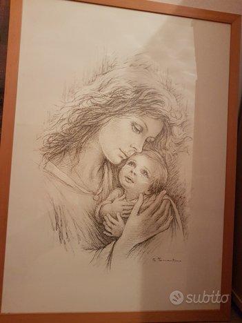 Quadro giuseppe tarantino donna con bambino