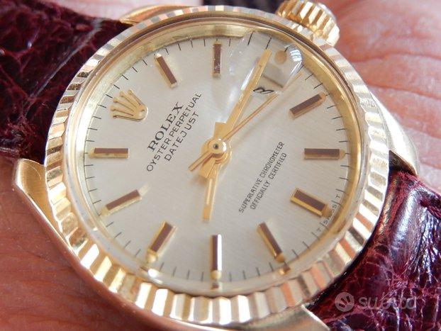 Rolex Datejust oro donna ref.6917 CON SCATOLA