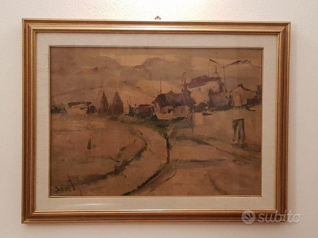 Danti alvaro (1911-1985) dipinto olio su tela