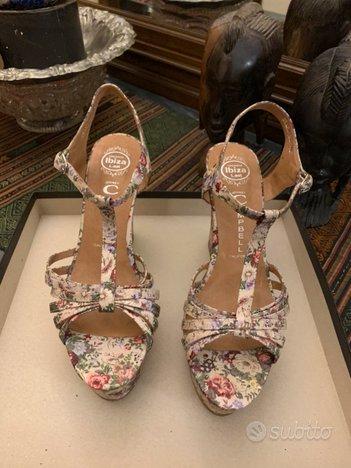 Sandali fantasia floreale taglia 40