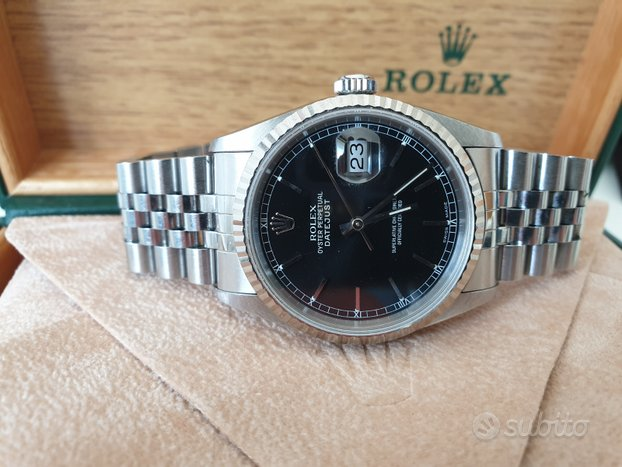 Rolex Datejust 16234 nero B&P