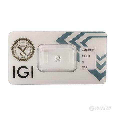 Diamante certificato IGI 0,51 ct