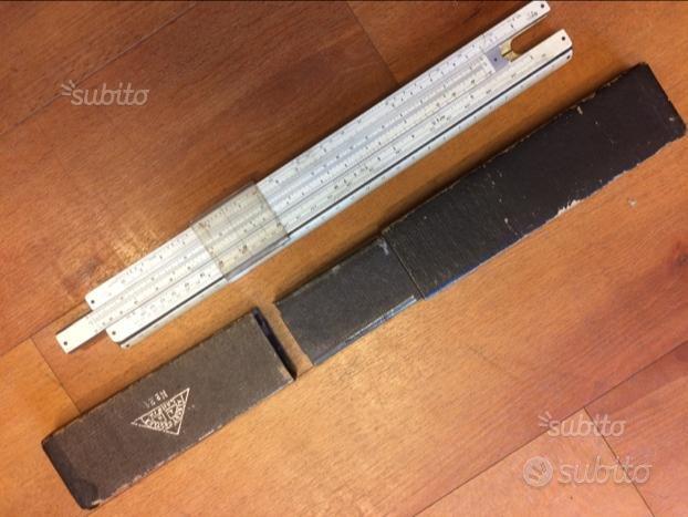 Regolo calcolatore in legno e metallo