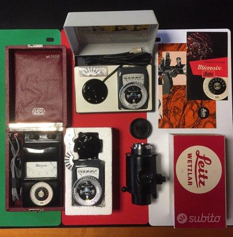 Kavar Leitz Leica con tre diversi espos. Microsix