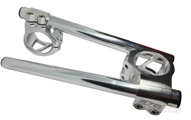 50 mm semimanubri silver sterzo manubrio moto