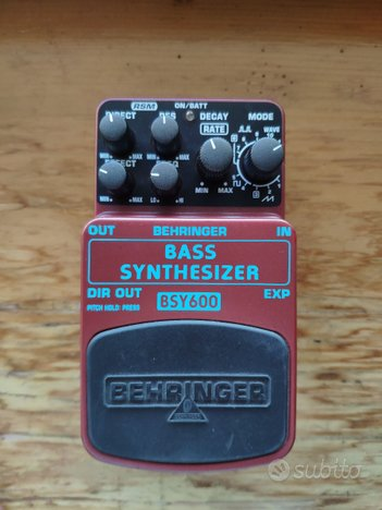 Behringer bass synthesizer bsy600 synth boss syb-5