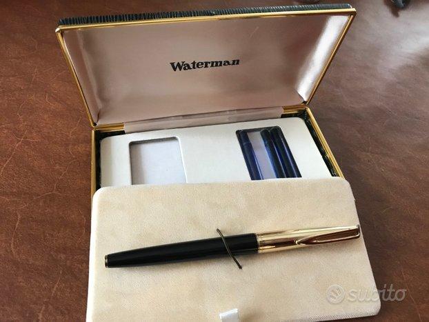 Penna stilografica vintage Waterman con astuccio